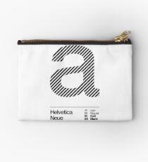 a .... Helvetica Neue (b) Studio Pouch
