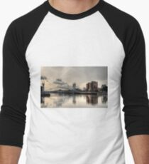 Bridge over Salford Quays, Manchester, UK Baseball ¾ Sleeve T-Shirt
