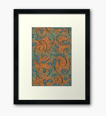 Copper Patina and Vines Framed Print