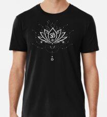 Lotus Blume, Yoga, white version Premium T-Shirt