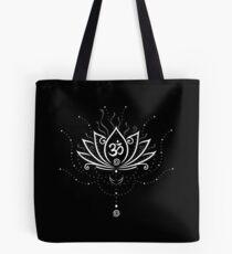 Lotus Blume, Yoga, white version Tote Bag