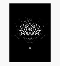 Lotus Blume, Yoga, white version Fotodruck