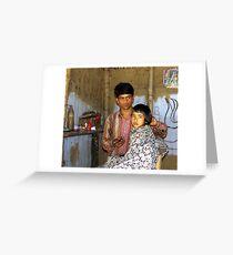 Assamese barber shop Greeting Card
