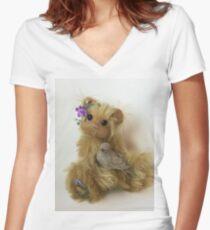 Artist Bear Pixie Women's Fitted V-Neck T-Shirt