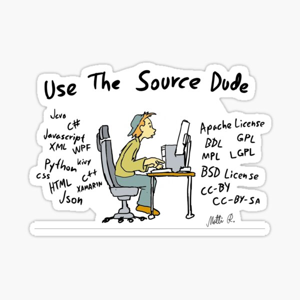 Proramming related cartoon image Sticker