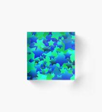 Bubble Stars Blue Acrylic Block
