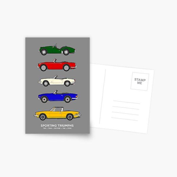Sporting Triumphs (Voitures de sport Triumph) Collection de voitures classiques Carte postale