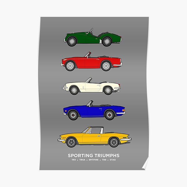Sporting Triumphs (Triumph Sports cars) Classic Car Collection Poster
