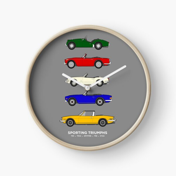 Sporting Triumphs (Triumph Sports cars) Classic Car Collection Clock
