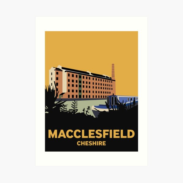Macclesfield Hovis Mill and canal boat Art Print