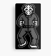 Retro Jason - Gray Vintage Metal Print