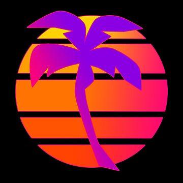 Sunset Palm by FlickerFade