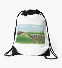 Out on bale - country South Australia. Drawstring Bag