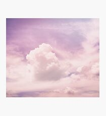 Pink fluffy clouds Photographic Print