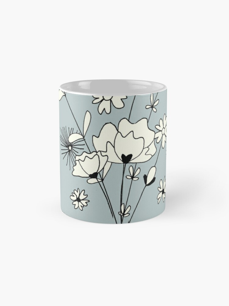 Alternate view of Blue flowers Mugs
