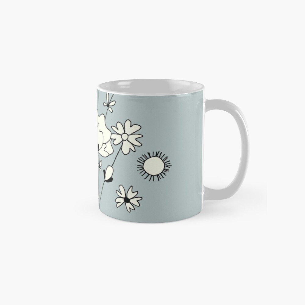 Blue flowers Mugs