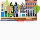 Dave's Amsterdam Grachtenhuizen Canal houses by dave-ulmrolls