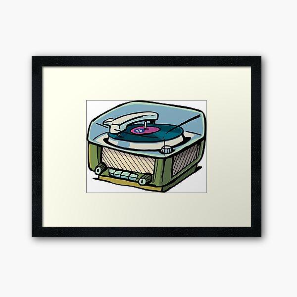 radio gramophone Framed Art Print
