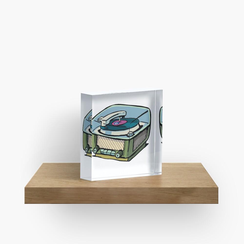 radio gramophone Acrylic Block