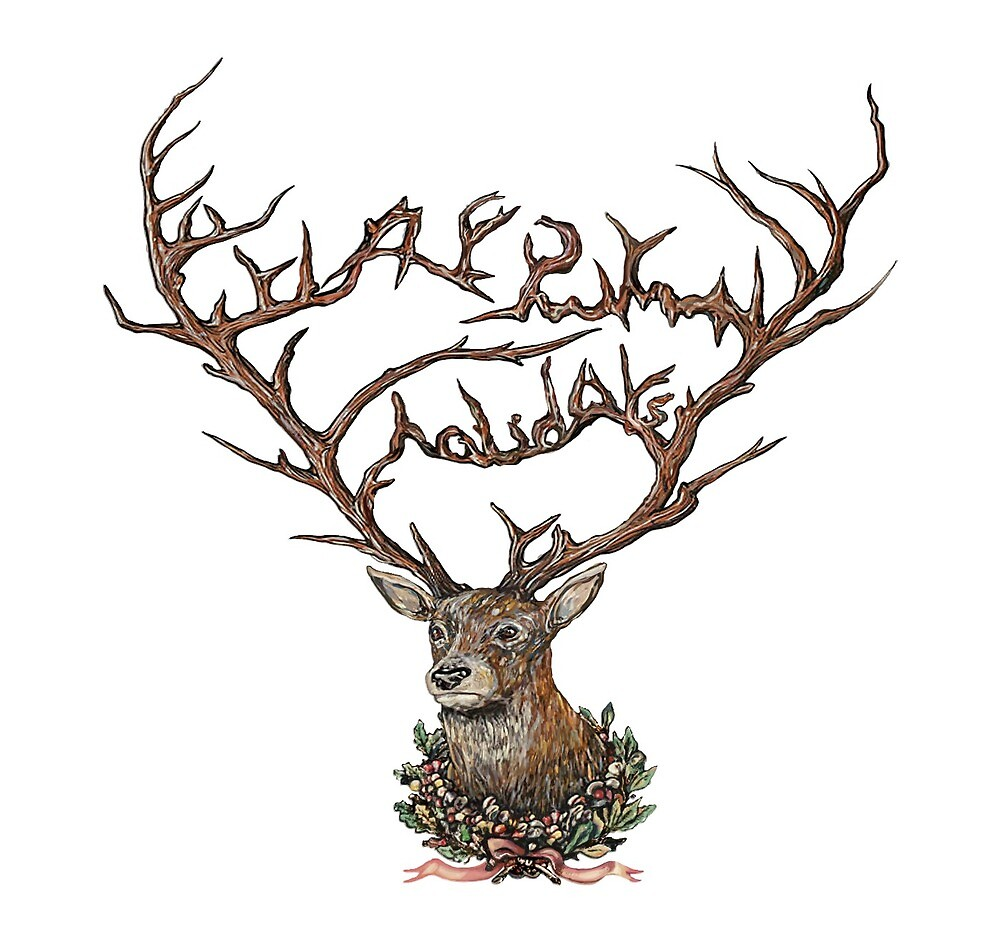 Holiday Card (Antlers) by Karl Frey