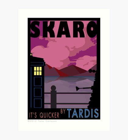 SKARO QUICKER BY TARDIS Art Print