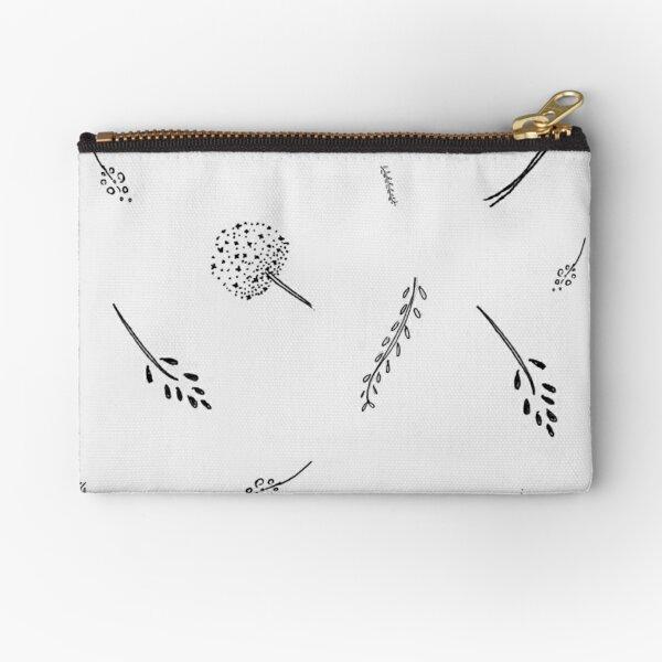 monochrome Meadow  Zipper Pouch