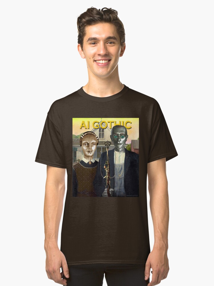 AI Gothic Classic T-Shirt Front