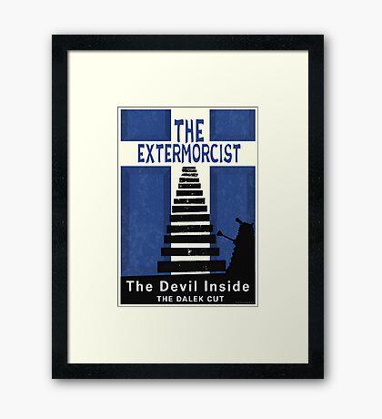 The Devil Inside. The Dalek Cut. Framed Print