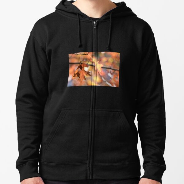 Autumn leaves from Honour Avenue, Mount Macedon, Victoria, Australia. Zipped Hoodie