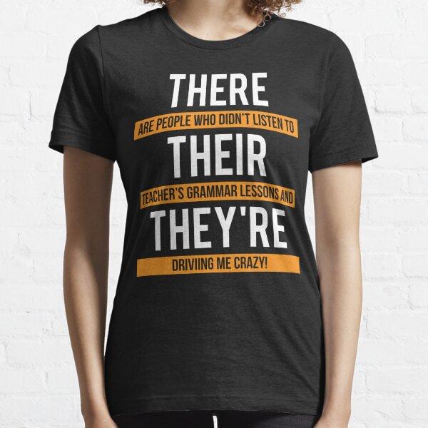 Funny Teacher Grammar Lesson T-shirt Essential T-Shirt