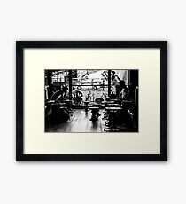Life at a coffee shop Framed Print