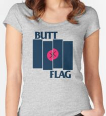 Butt Flag Women's Fitted Scoop T-Shirt