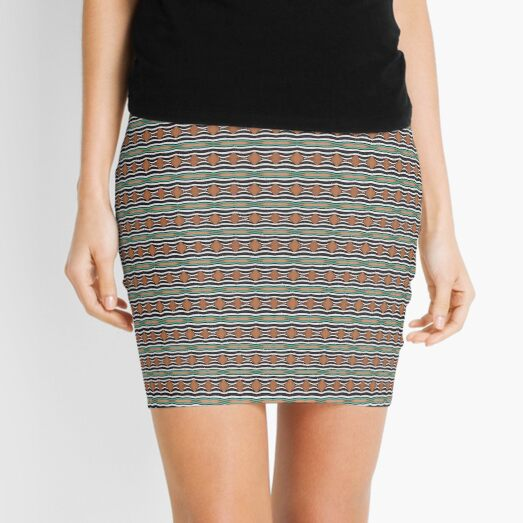 pattern, tracery, weave, template, routine, stereotype, gauge, mold, sample Mini Skirt