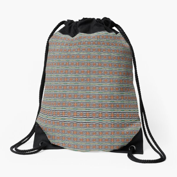 pattern, tracery, weave, template, routine, stereotype, gauge, mold, sample Drawstring Bag