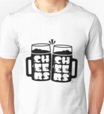 Cheers Typography Unisex T-Shirt