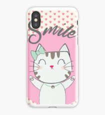 Smile Kitty Super Cute Cat iPhone Case/Skin