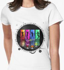 Vinyl Enchanting Vinyl Records Vintage  Women's Fitted T-Shirt