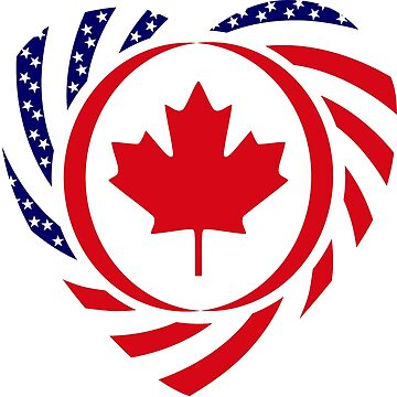 Canadian American Multinational Patriot Flag Series 2.0 by carbonfibreme
