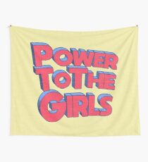 Power To The Girls  Wall Tapestry