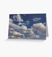 Clouds in blue sky Greeting Card