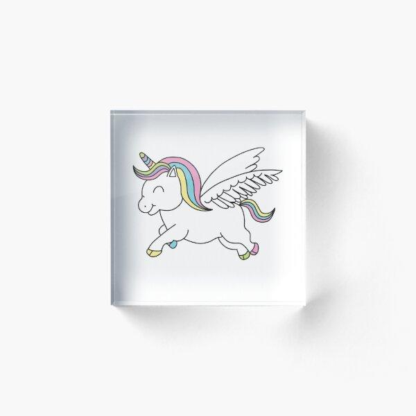 cute unicorn Acrylic Block