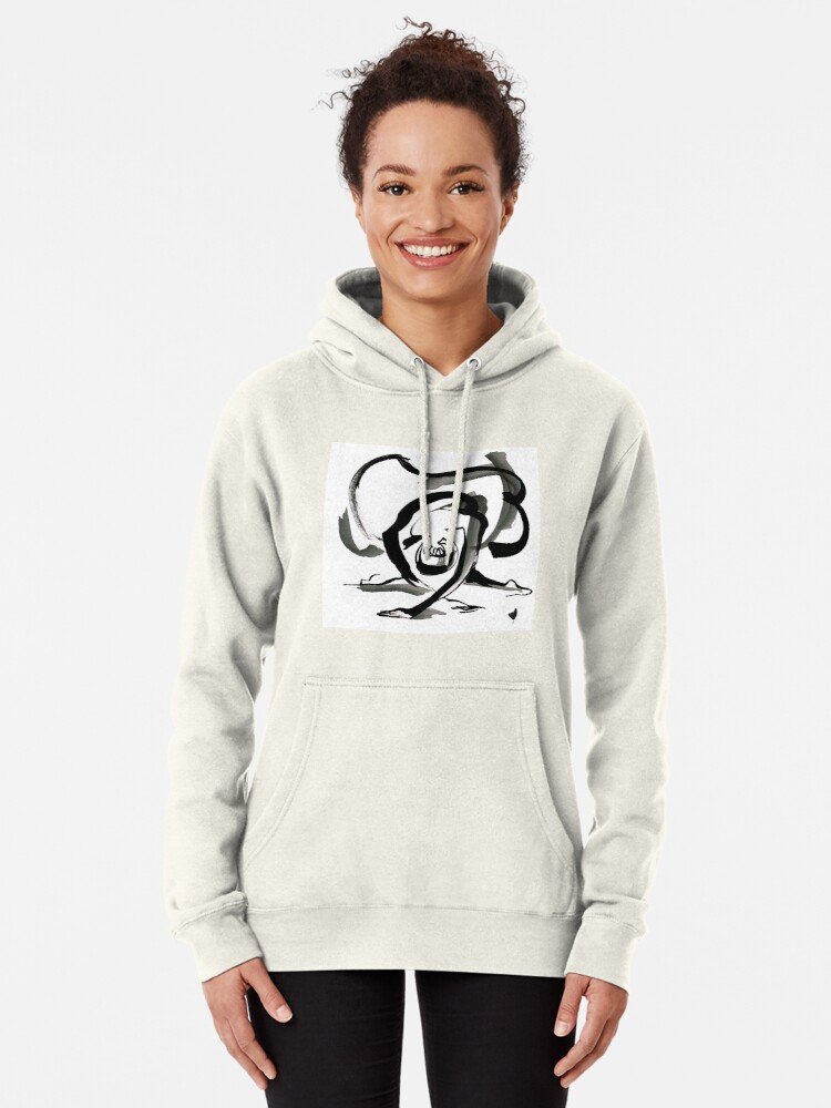 Alternate view of Expressive Ballerina Dance Drawing Pullover Hoodie