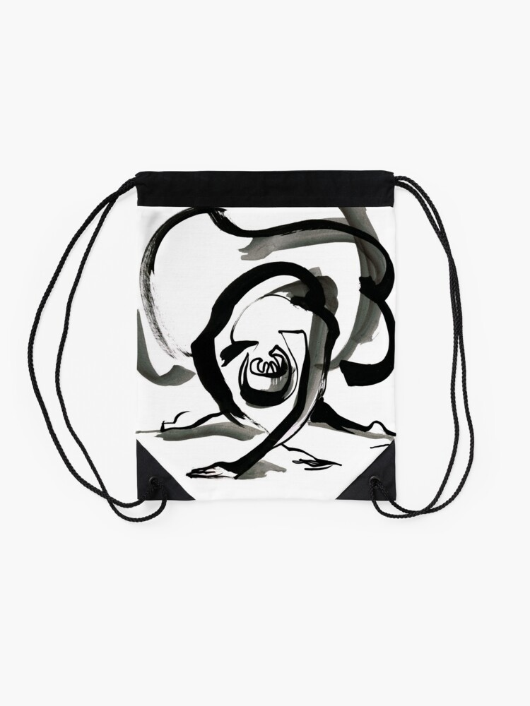 Alternate view of Expressive Ballerina Dance Drawing Drawstring Bag