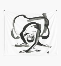 Expressive Ballerina Dance Drawing Wall Tapestry