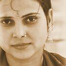 Indian Bride, Agra India 2008 by Tash  Menon