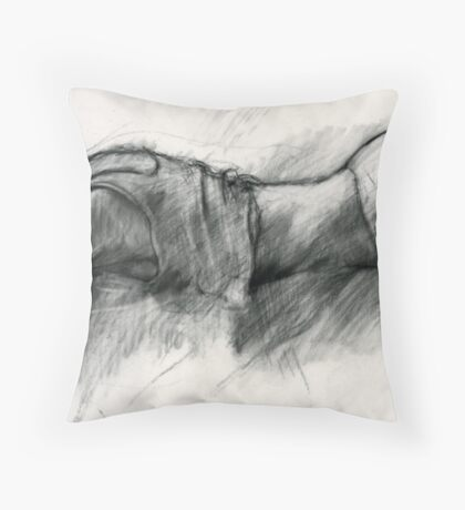 """Study for """"What's he up to?"""" Throw Pillow"""