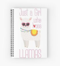 Just A Girl Who Loves Llamas - Cute Llama Lover Llama Whisperer Gift Spiral Notebook