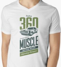 DRIFTING MUSCLE CAR - Legendary Champion Men's V-Neck T-Shirt