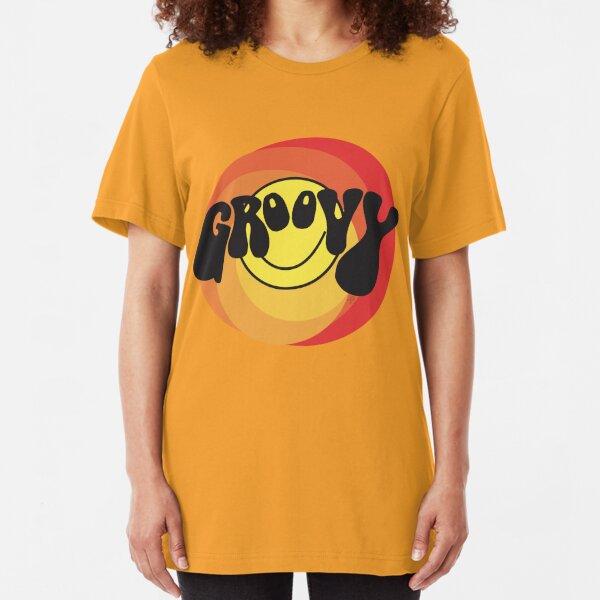 Groovy - Retro shirt Slim Fit T-Shirt