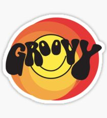 Groovy - Retro shirt Sticker